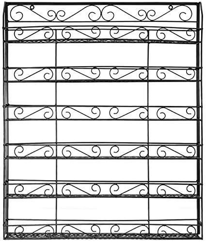 Abodos Nail Polish Shelf cosmétiques Display Stand détient 50 Bouteilles de Huile Essentielle, Nail Polish Support de Stockage Organisateur Display Stand (Noir),Noir