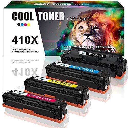 Cool Toner Kompatibel Toner Cartridge Replacement für HP CF410X CF411X CF412X CF413X 410X 410A für HP Drucker Color Laserjet Pro MFP M477fdw M477fnw M477fdn M452dn M452dw M452 MFP M477 M377 Toner