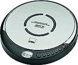 CTC CDP7001 Tragbarer CD-Player inklusiv In-Ear-Kopfhörer und LCD-Display schwarz