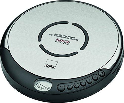 CTC CDP7001 - Lettore CD portatile con auricolari in-ear e display LCD, colore: Nero