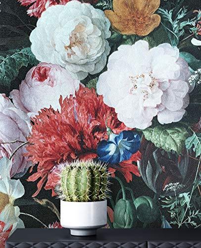 NEWROOM Tapete Vintage Rosen rosa Vliestapete rot Vlies moderne Mustertapete Tapete Blumentapete Wallpaper Floral inkl. Tapezier Ratgeber