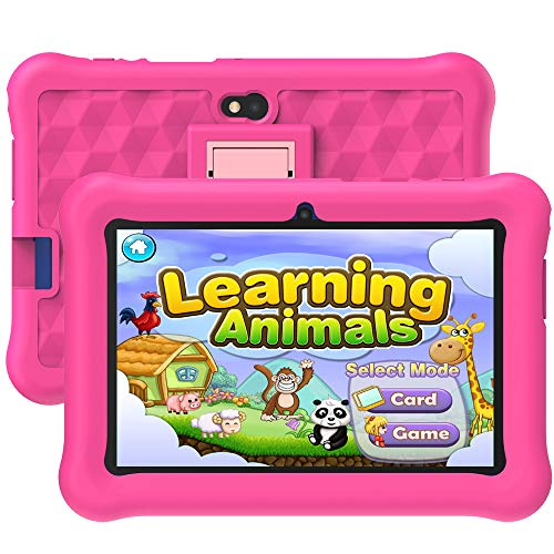 Tablet Niños con WiFi 7 Pulgadas 2GB RAM+32GB ROM Tableta Infantil Android 6.0 Juegos Educativos y Kid-Proof Funda.