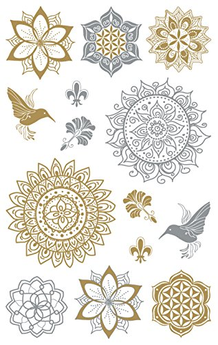 AVERY Zweckform 55657 Metallic Sticker Floral 12 Aufkleber