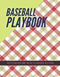 Baseball Playbook, Red beige check diagonal fabric texture background seamless pattern cover