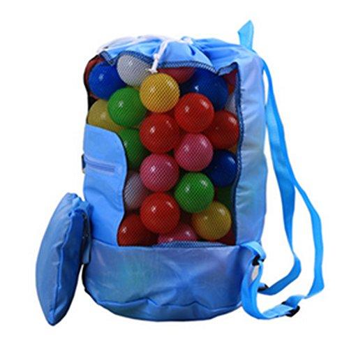 Vi.yo Bolsa de Malla Arena Grande, Ideal para Guardar Juguetes Infantiles, Juguetes, Bolsas de Playa u Otros artículos de Playa Size 24x48cm (Azul)