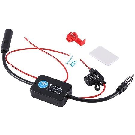 Car Antenna Amplifier Signal Booster FM Signal Amplifier for Car Radio, Car FM Radio Aerial Antenna Signal Reception Amplifier Booster