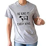 Tosonse Damen T-Shirt Shirts Tops Druck Basic Tunika Blusen Strand Kurzarm Tee O-Ausschnitt Mode -