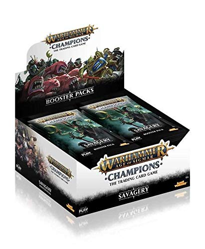 PlayFusion Warhammer Age of Sigmar: Champions Wave 3: Savagery Booster Display (24) English