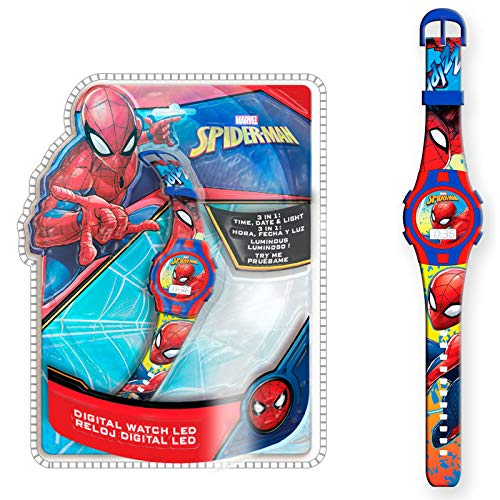 Spiderman MV15495 Armbanduhr Digital Licht New Packaging 3 in 1 (MV15495), Mehrfarbig