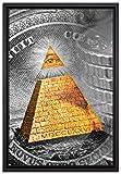 Pixxprint Illuminati Pyramide Leinwandbild 60x40 cm im