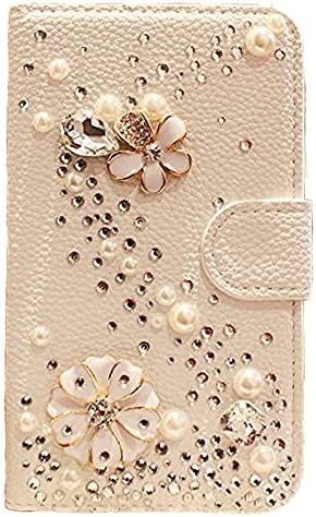 iPhone 6 Plus Wallet Case Black Lemon Handmade Luxury 3D Bling Crystal Rhinestone Leather Purse product image