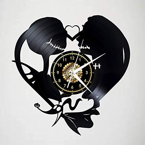 Leileixiao Reloj de Pared de Vinilo de grabación, Disney Animal Park Reloj de Pared, Hecho a Mano Arte Creativo decoración casera de la Pared Mejores Regalos (Color : Q)