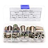 Yuhtech 50Pcs Tornillo de Socket Hexagonal de Mueble de Aleación Zinc Insertos de Rosca Kit de Herramienta de Surtido de Tuercas para Mueble de Madera