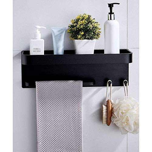 ZYING Tiempo de conservación de baño Plataforma Plataforma de baño con toallas, adhesiva de aluminio riegan la del organizador del almacenaje ninguna perforación de montaje en pared Cesta de almacenam