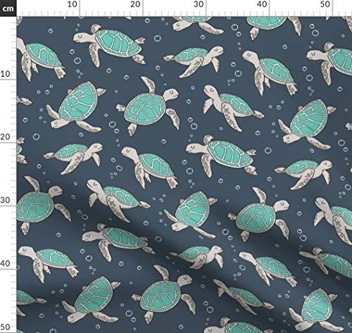 Meeresschildkröte, Fisch, Maritim, Sommer, Schildkröte, Ozean, Meer Stoffe - Individuell Bedruckt von Spoonflower - Design von Caja Design Gedruckt auf Baumwollstoff Klassik