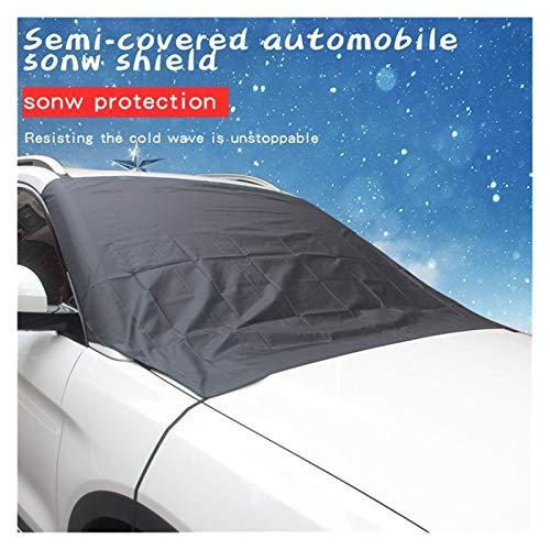 XINGFUQY Cubierto DE Coches Cubierta DE Nieve Remoción de Hielo Limpiaparabrisas Protector de visores Auto Sun Shade Protector Protección de Parabrisas para automóviles SUV Vans