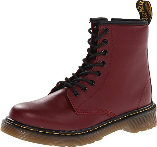 Dr. Martens Unisex-Kinder Delaney Softy T Bootsschuhe, Rot (Cherry Red), 30 EU