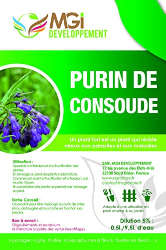 MGI DEVELOPPEMENT Purin de Consoude Made in France - 5 litres - fortifiant écologique