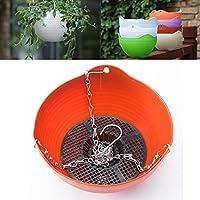 鉢ハンギングバスケット植木鉢、ハンギングポット、ハンギングフック、屋内および屋外で使用するための屋内自己吸収性プラスチック植木鉢 (M,A7)