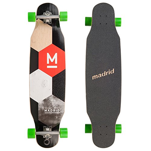 MADRID Unisex– Erwachsene Paddle Longboard, schwarz braun grün, 4,5 x 9,75 EU