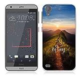 FUBAODA für HTC Desire 530 Hülle [Spitzenweg] Kratzfeste Plating TPU Hülle für HTC Desire 530 Hülle Schutzhülle Silikon Crystal Hülle Durchsichtig für HTC Desire 530