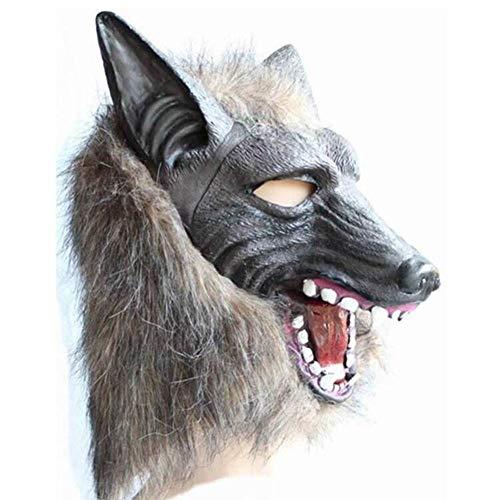 SC Halloween weerwolf masker terreur duivel maskerade masker wolf hoofd en handschoenen latex maken