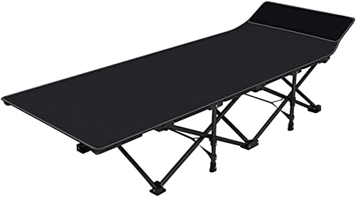 OUUCL Lit de Camping Pliant, lit de Couchage Pliable portatif for Femmes, chaises de Patio en Plein air, Chaise Longue, Conception Robuste for Plage de Patio, 200LB 70x26x13.5