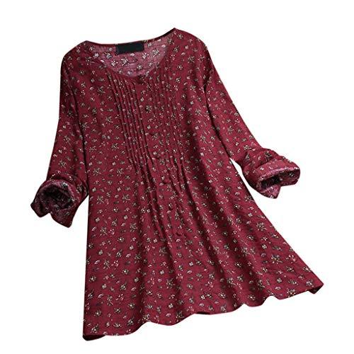 KYLEON Women's Tops T-Shirts Plus Size Vintage Flower Print...