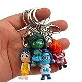 zdfgv 4 unids/Set Pixar Movie Inside out PVC Figuras Juguetes con Llavero Dibujos Animados Tristeza Miedo Alegría Disgusto Anger Juguetes para niños Regalo 5CM