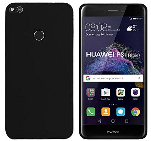 Tumundosmartphone Funda Gel TPU para Huawei P8 Lite 2017 Color Negra
