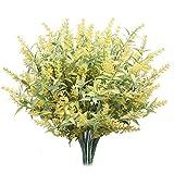 Derbway Actualizado Lavanda Artificial, 4PCS Ramo de Flores de Lavanda para Decoración de...