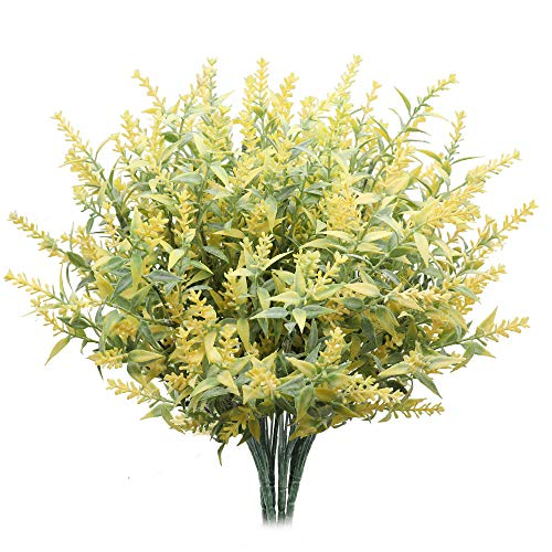 Derbway Actualizado Lavanda Artificial, 4PCS Ramo de Flores de Lavanda para Decoración de Planta Patio Jardín Hogar Oficina del Banquete...