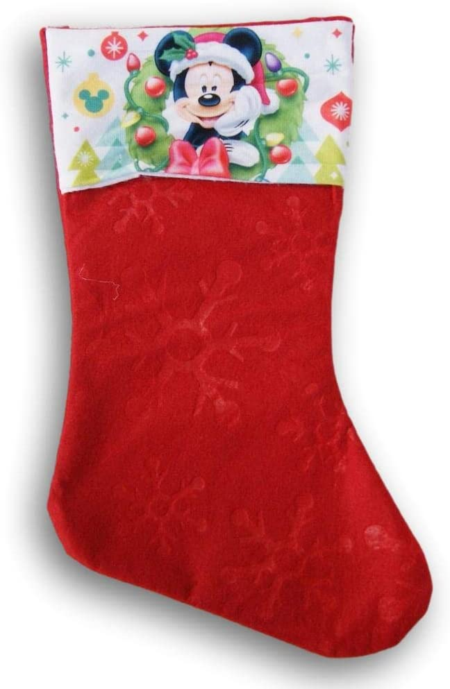 Mickey Mouse Santa Cap Red Limited time sale Holiday Christmas Felt Sale item 16 Stocking -
