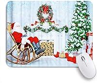 NINEHASA 可愛いマウスパッド クリスマスツリーサンタクロース ノンスリップゴムバッキングコンピューターマウスパッドノートブックマウスマット