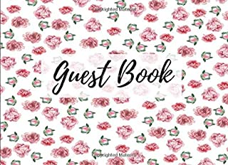 Guest Book: Peony Floral Flower Print (8) - Keepsake Writing Guest Book - For All Occasions & Events [Classic]