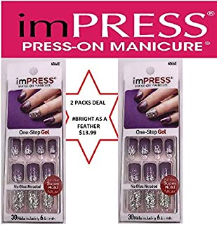 ImPress Press-On Manicure, Bright as a Feather (Pack of 2)