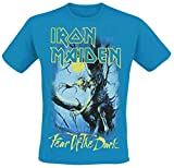Iron Maiden Fear of The Dark - Glow In The Dark Hombre Camiseta Azul XL