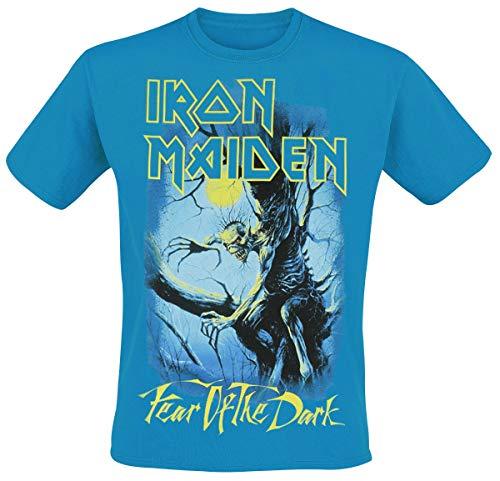 Iron Maiden Fear of The Dark - Glow In The Dark Männer T-Shirt blau XL