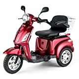 Mobility Scooter Electric Mobile – Senior Model Car Electric Tricycle (Red)