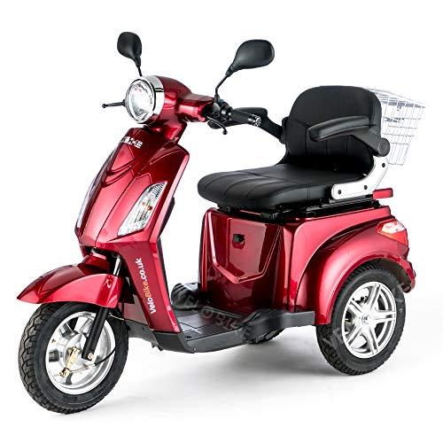 VELECO Scooter elettrico 3 ruote Disabili Anziani 25km/h 900W ZT15 ROSSO