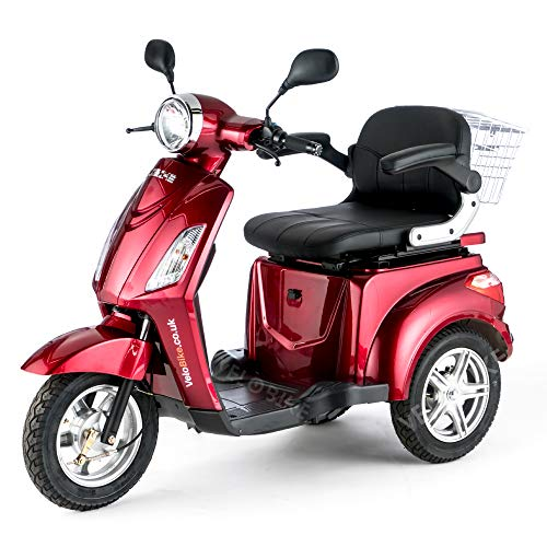 VELECO ZT15 Scooter Eléctrico de 3 Ruedas Mayores Minusvalido 900W ROJO
