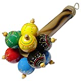 Maracas Bunga - this percussion instrument is created using ping pong balls and attached to a bamboo handle....