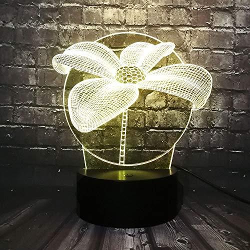 Sanzangtang Led-nachtlampje, 3D-7 kleuren, afstandsbediening, romantische bloemblaadjes-liefhebbers, lava-afstandsbediening, decoratieve ruimte, sfeer, nachtlampje