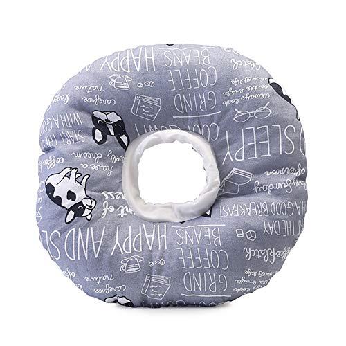 Dihope Halskrause Katzen weich Haustier Halsband Haustier Schutzkragen Premium Halskrause für Katzen als Leckschutz und Schutzkragen Kratzfest Wundschutz(Kühe,M)