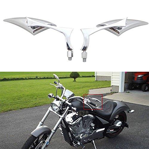 Chrome Blade Rear View Side Mirror For Dyna Honda Kawasaki Suzuki Yamaha