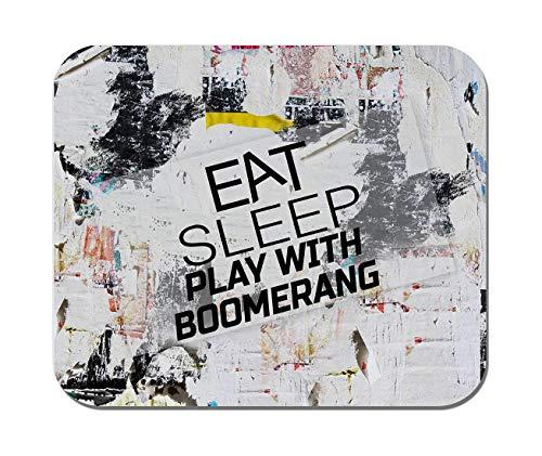 Makoroni - essen Sie Schlaf spielen mit Bumerang - rutschfester Gummi - Computer, Gaming, Office-Mauspad