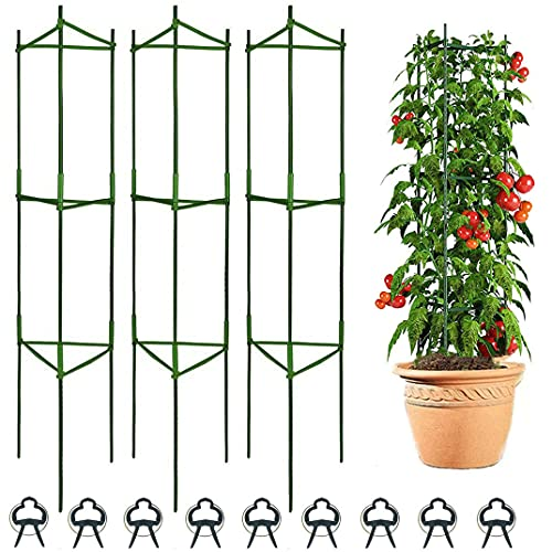 Derlights Tomato Cages Deformable Plant Supports, 3Pack Plant Cages Tomato...