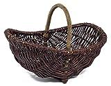Prestige Wicker Trug Garden Basket, Dark, one Size