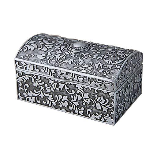 Caja de Almacenamiento de Joyas Retro Estilo de aleación de zinc Europea retro caja del tesoro clásico de almacenaje de la joyería pulsera pendientes caja pequeña caja de joyería Anillo Cofres de Acce