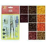 Bundle–2Artículos: Starter Pack plástico Kam Snap alicates de ajuste y punzón Set con 100juego completo de Kam plástico Snap para pañales/baberos/botones/unpaper toallas